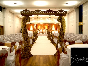 Wooden Mandap Walk Way