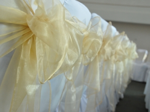 Chair Covers Gold Sash LOOSE