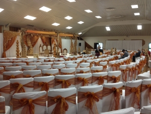 Wooden Mandap 1 Oshwall plus venue draping