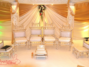 Dynamic Half Full Crystal Mandap inside