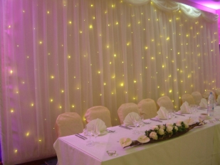Dynamic Starlight Head Table Back drop from £300