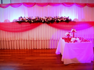 Head Table decor and back drop